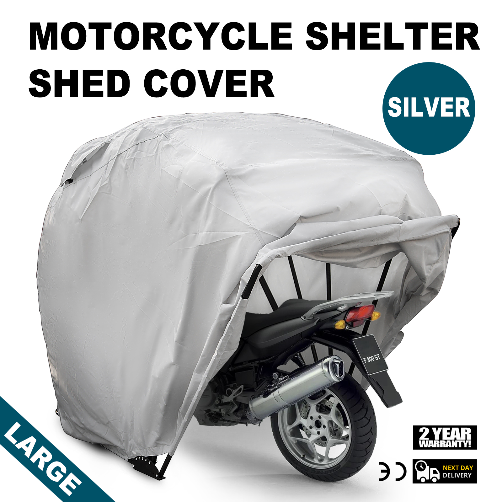Large motorcycle shelter storage cover tent garage outdoor - Motorcycle foldable garage tent cover ...