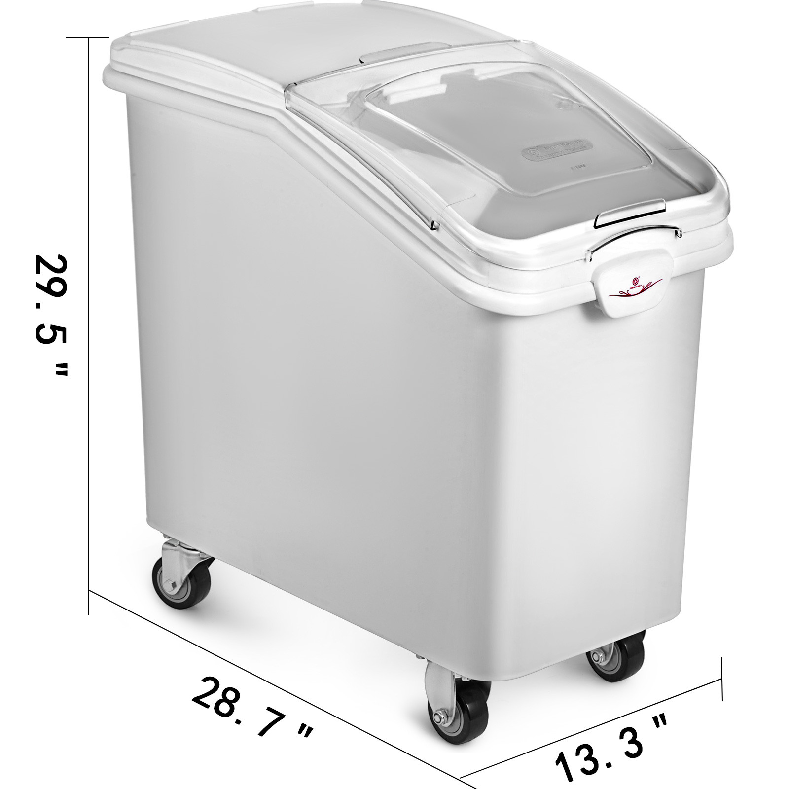 Ingredient Storage Bin 21/27 Gallon Mobile Container w ...