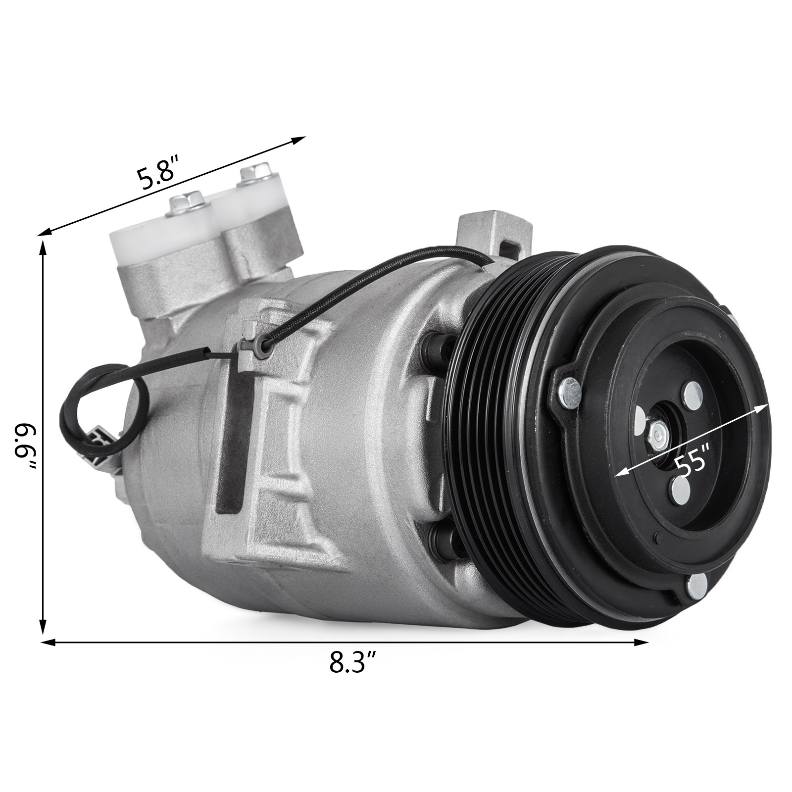 SET A//C Compressor-DKS17D Assembly UAC for 2003-2008 Mazda 6 2.3L-L4 Great