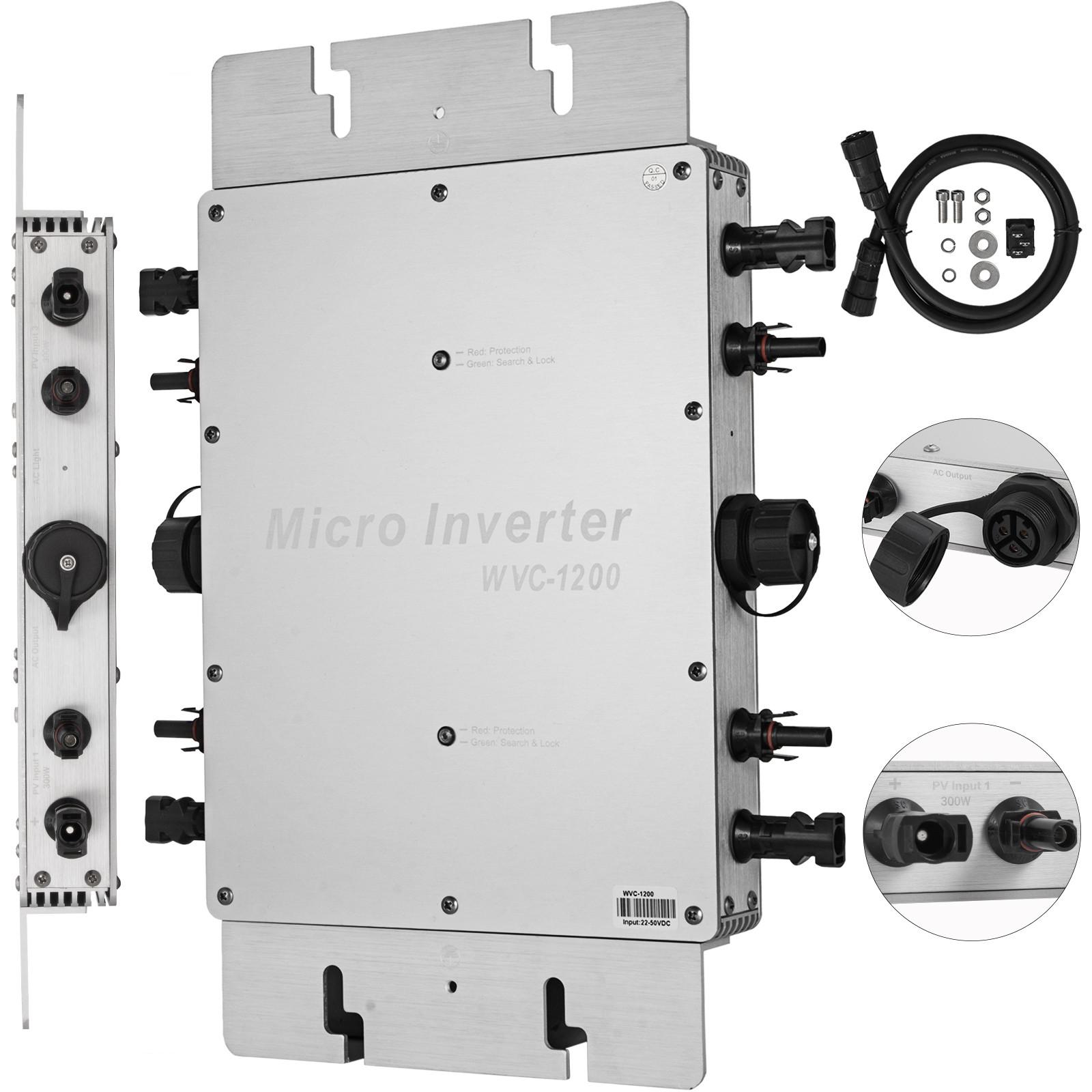 WVC-300W-600W-1200W-110V-220V-MPPT-Solar-Grid-Tie-Micro-Inverter-Waterproof-IP65 thumbnail 60