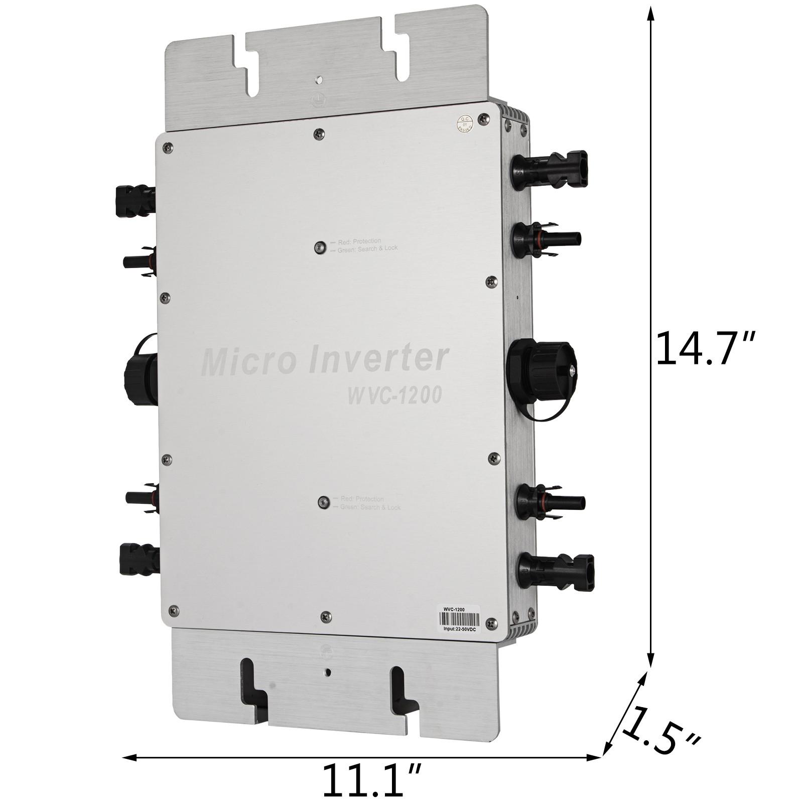 WVC-300W-600W-1200W-110V-220V-MPPT-Solar-Grid-Tie-Micro-Inverter-Waterproof-IP65 thumbnail 50