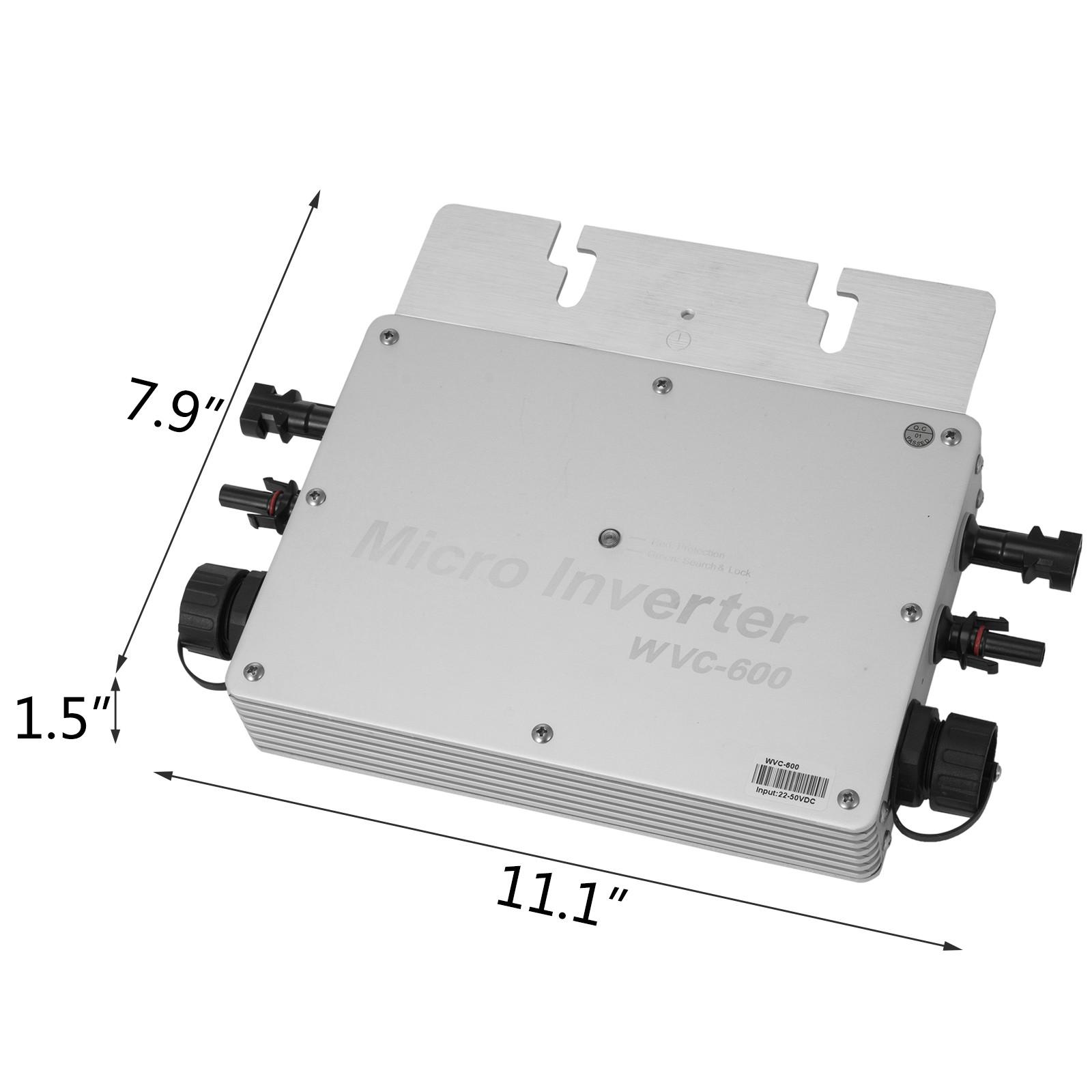 WVC-300W-600W-1200W-110V-220V-MPPT-Solar-Grid-Tie-Micro-Inverter-Waterproof-IP65 thumbnail 26