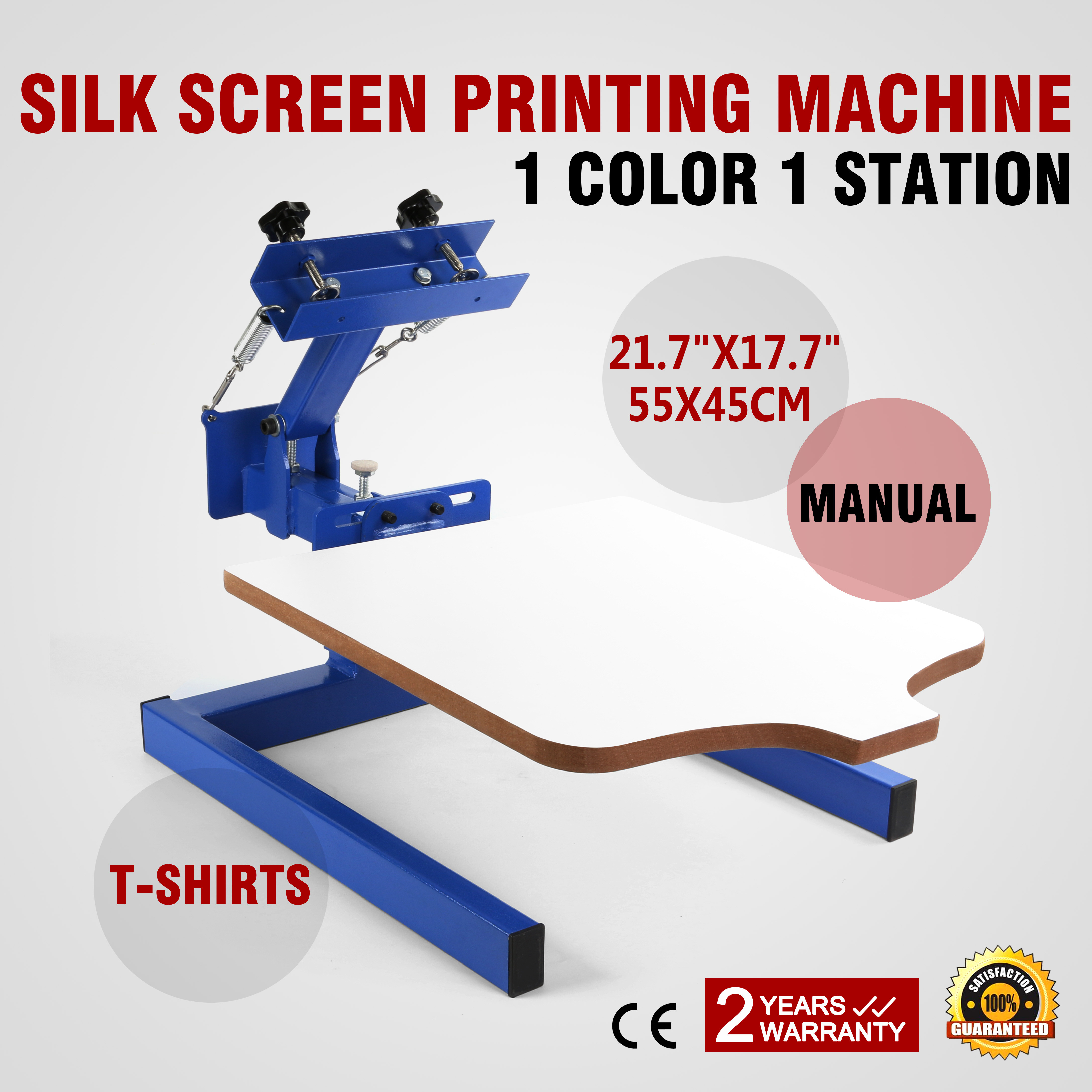 a01bcd0f0 Details about 1 Color 1 Station Silk Screen Printing Machine Press Printer T -Shirt Printing