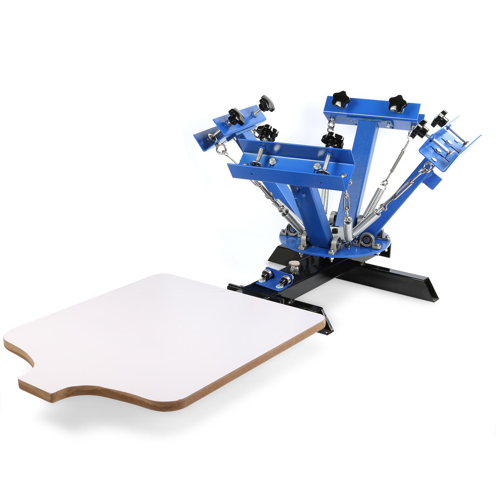 4 Color 1 Station Silk Screen Printing Machine T Shirt
