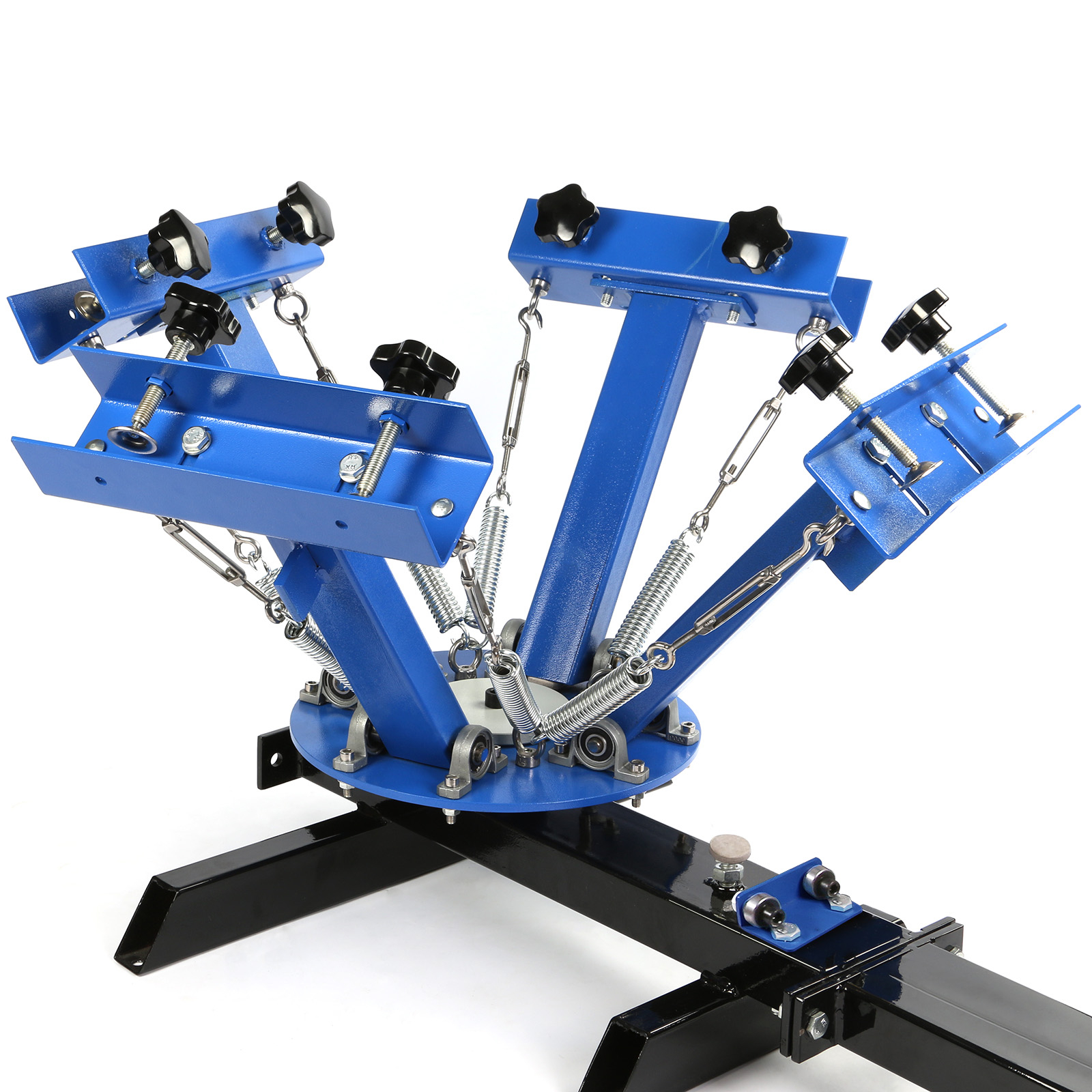 4 Color 1 Station Silk Screen Printing Kit Press Equipment