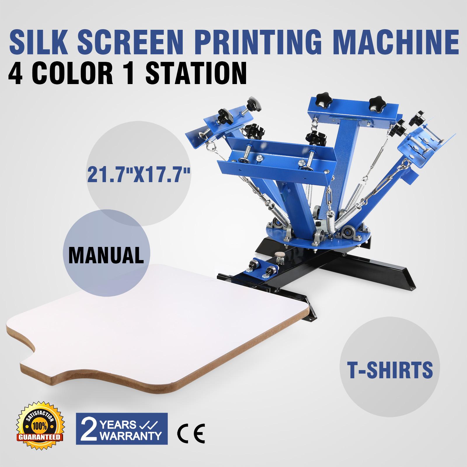 4 Color 1 Station Screen Printing Machine Diy T Shirt Press Printer
