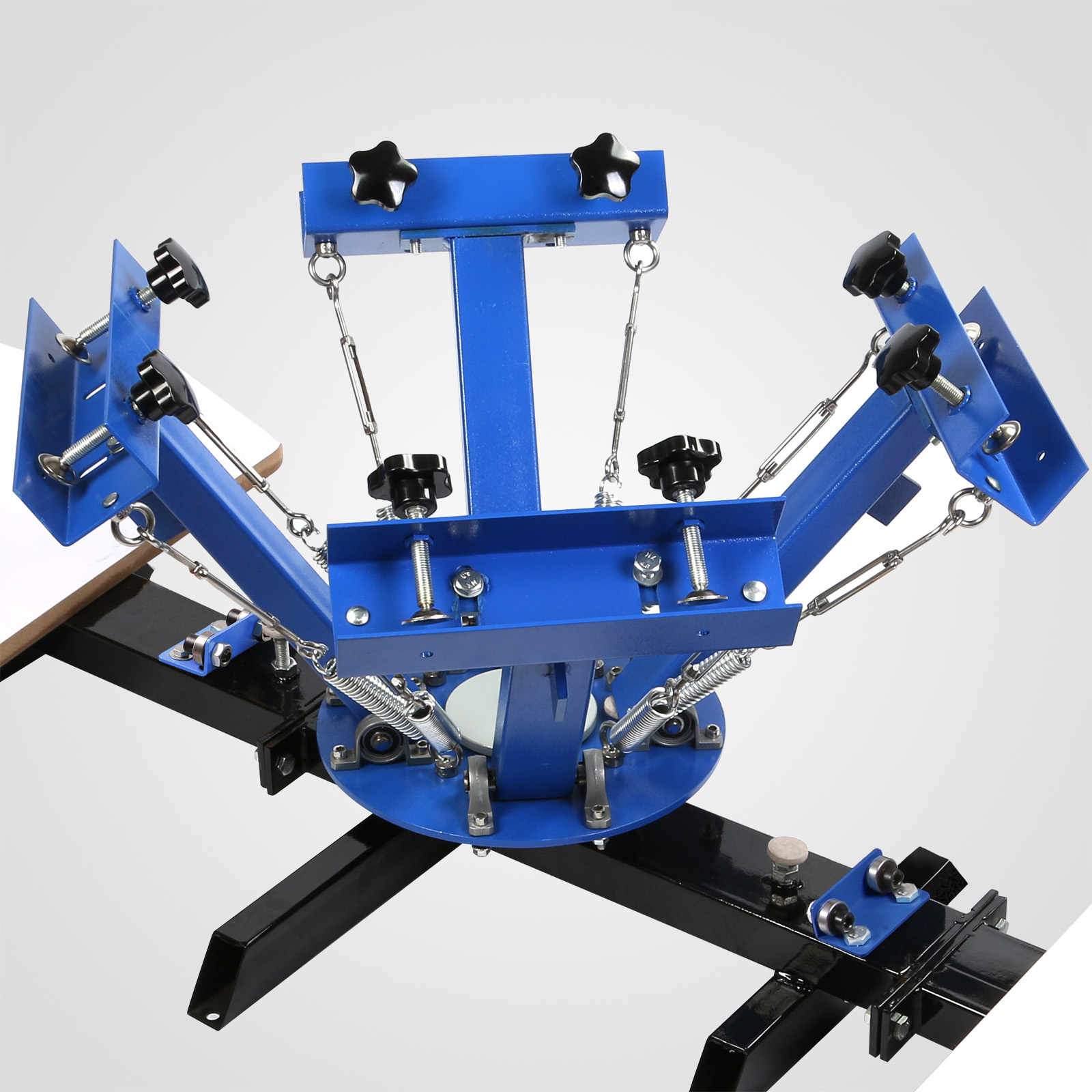 4 Color 2 Station Silk Screen Printing Machine Carousel Cutting GREAT 283961321050