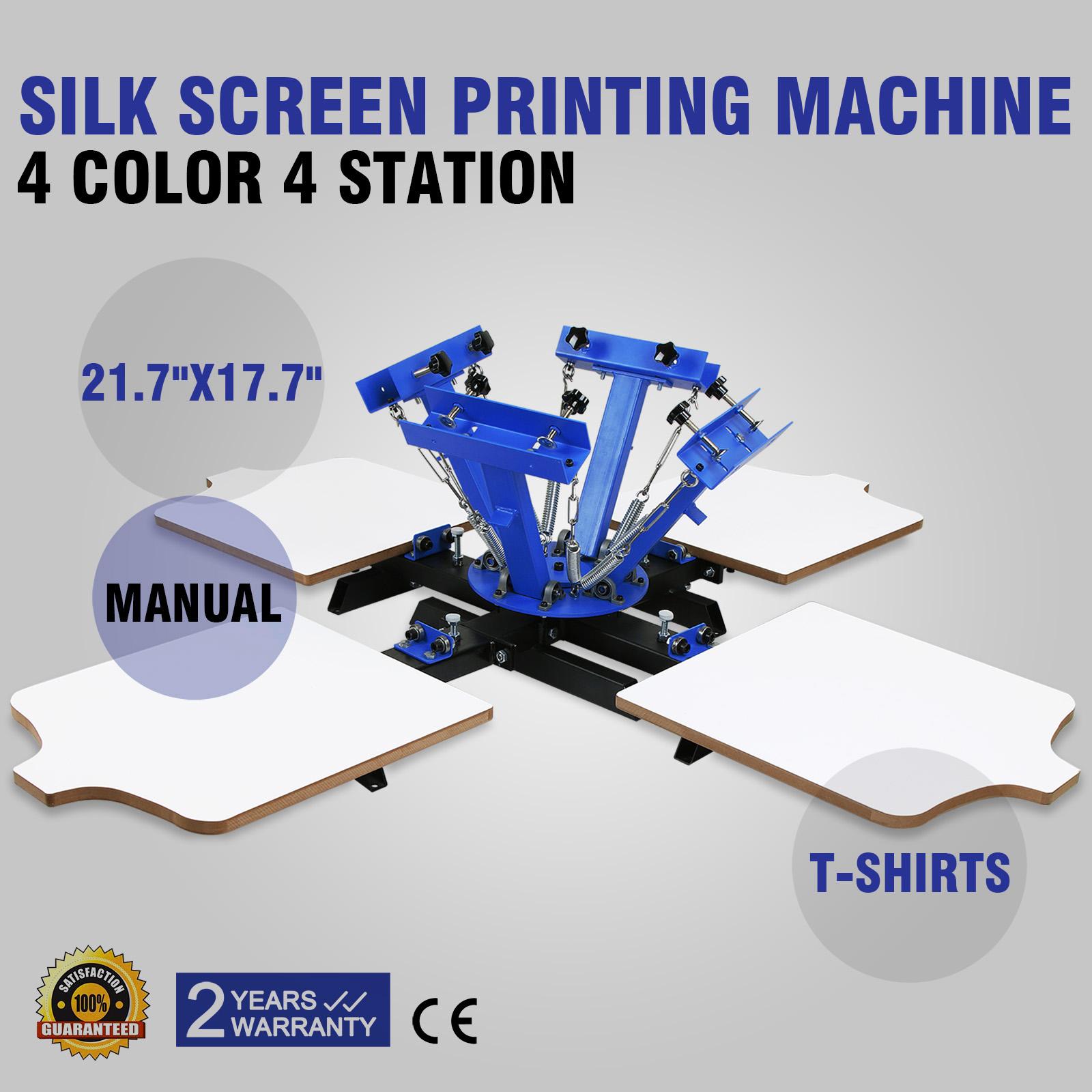4 Color 4 Station Silk Screen Printing Machine Printing
