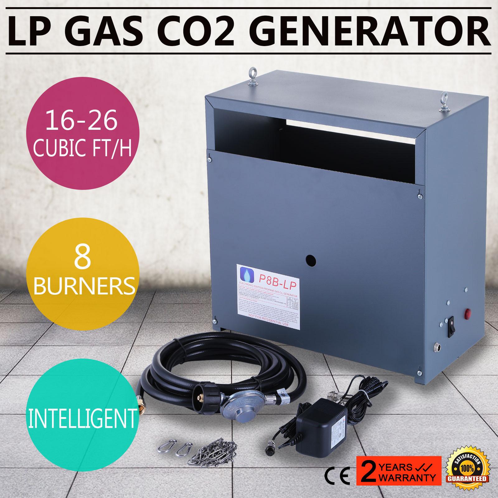 Hydroponic Grow CO2 Generator 8 Burner LP Gas 8 Burners Greenhouse