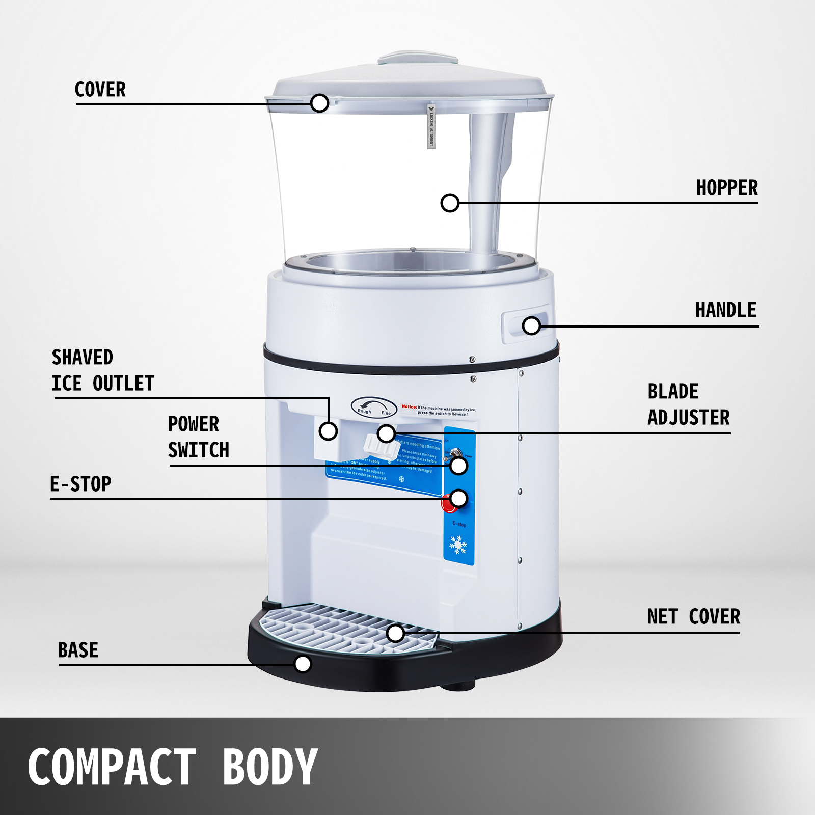 miniature 110 - Commercial Ice Shaver Electric Snow Cone Machine Commercial Blender Ice Crushers