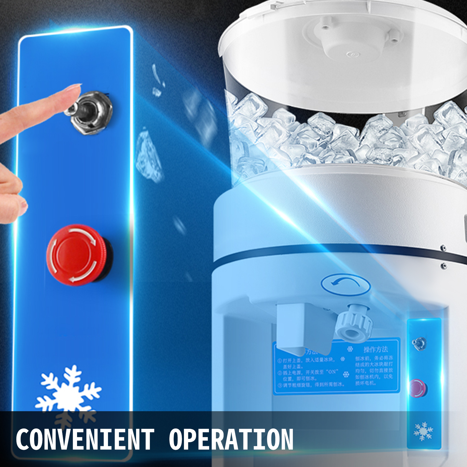 miniature 112 - Commercial Ice Shaver Electric Snow Cone Machine Commercial Blender Ice Crushers