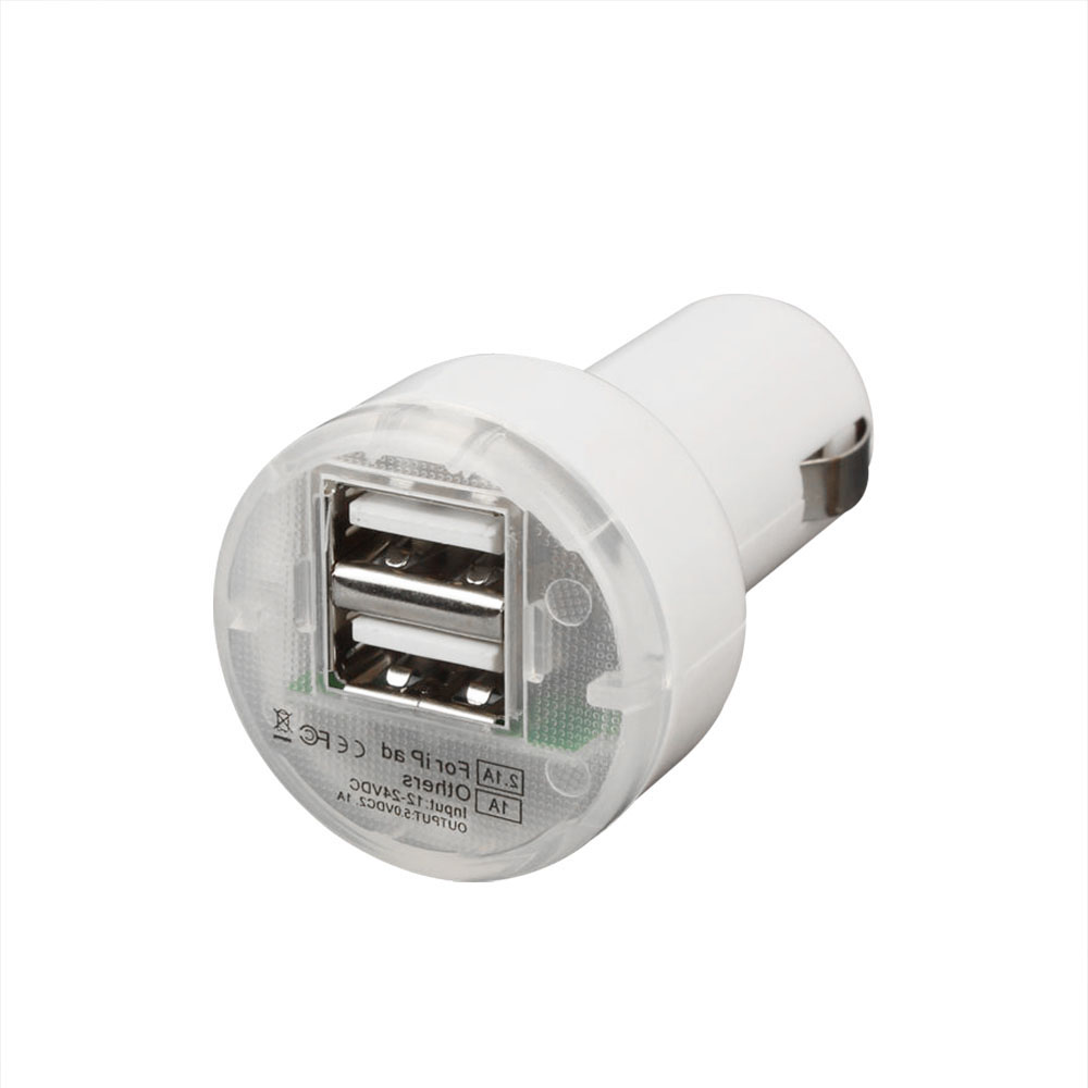 car charger for iphone 5s usb 2 port car charger adaptor white for iphone 5 5s cell 16769