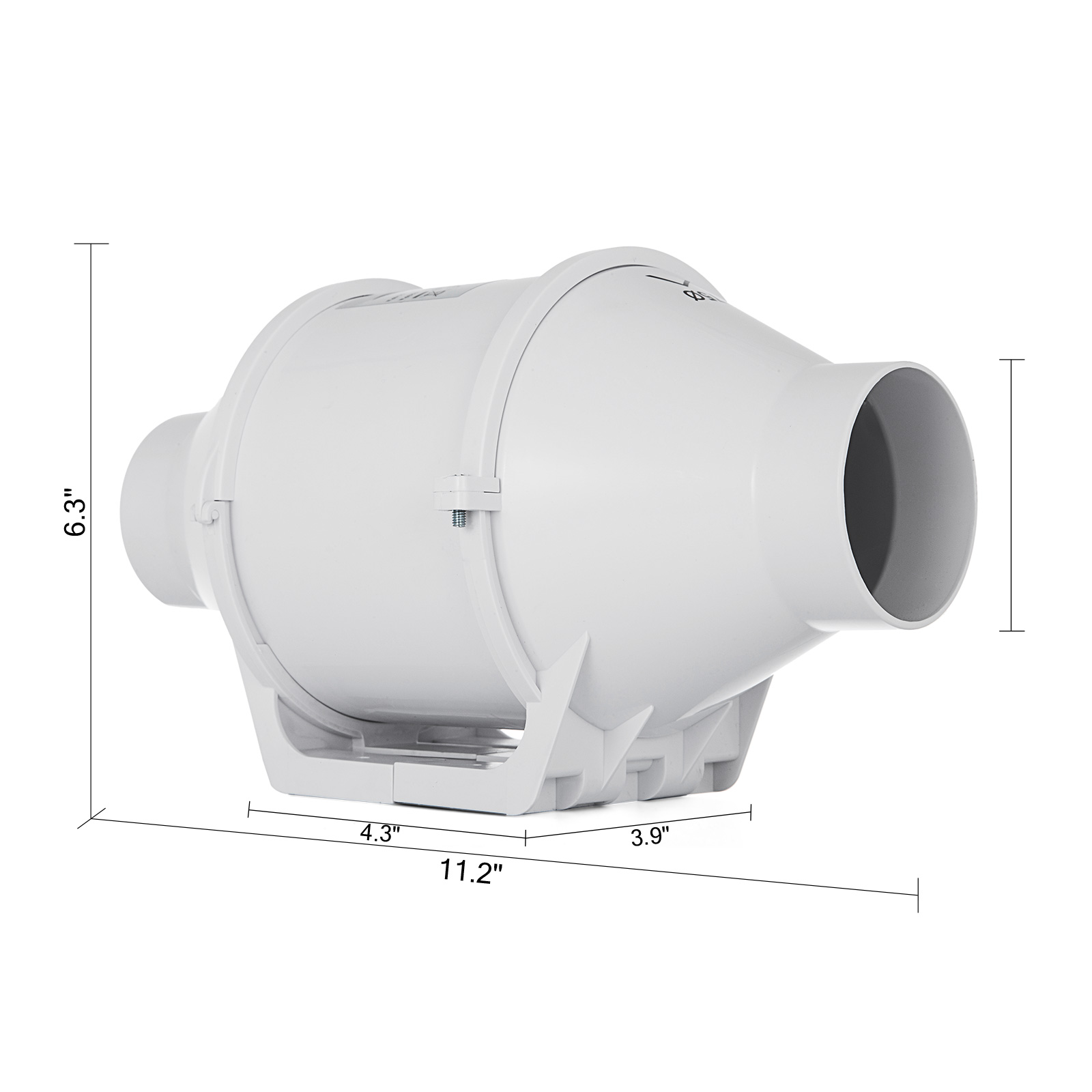 "High Flow Bathroom Exhaust Fan: 3"" Inch Inline Duct Booster Fan Ventilation Exhaust Air"