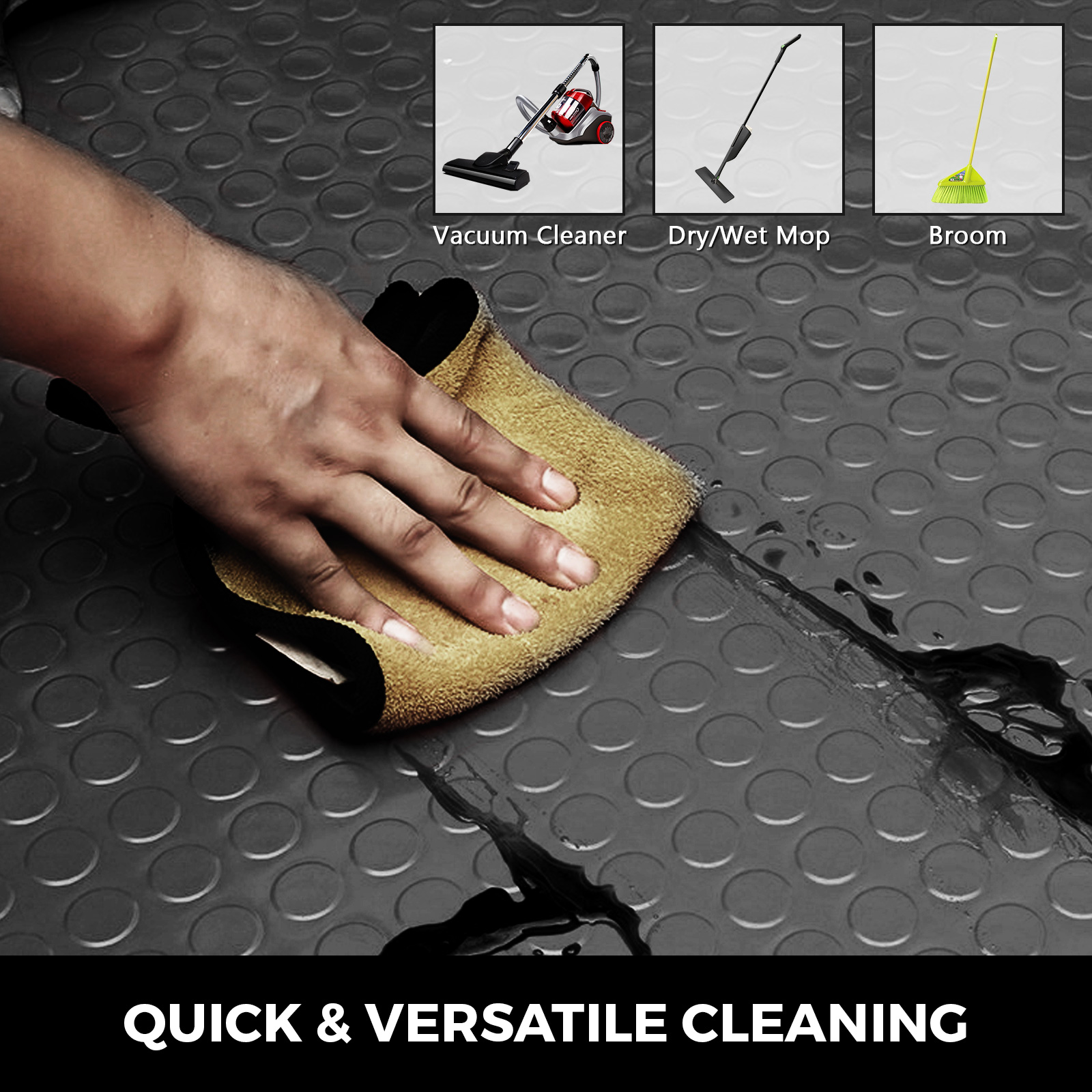 thumbnail 150 - Garage Flooring Mat Roll Car Trailer Floor Covering 1.1m Width Gym Floor Roll