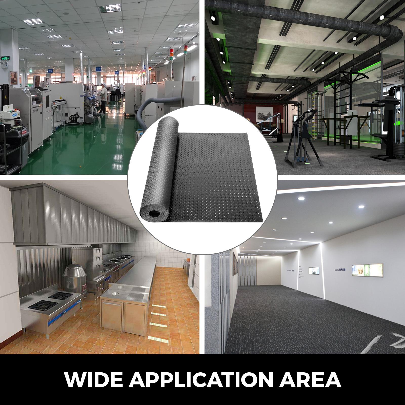 thumbnail 103 - Garage Flooring Mat Roll Car Trailer Floor Covering 1.1m Width Gym Floor Roll