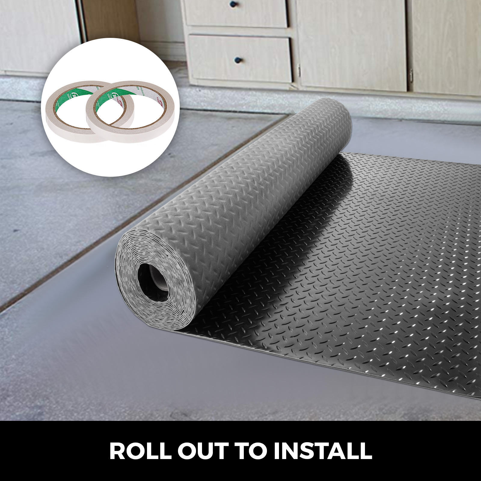 thumbnail 125 - Garage Flooring Mat Roll Car Trailer Floor Covering 1.1m Width Gym Floor Roll