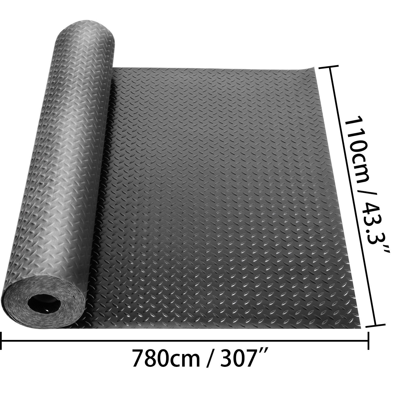 thumbnail 128 - Garage Flooring Mat Roll Car Trailer Floor Covering 1.1m Width Gym Floor Roll