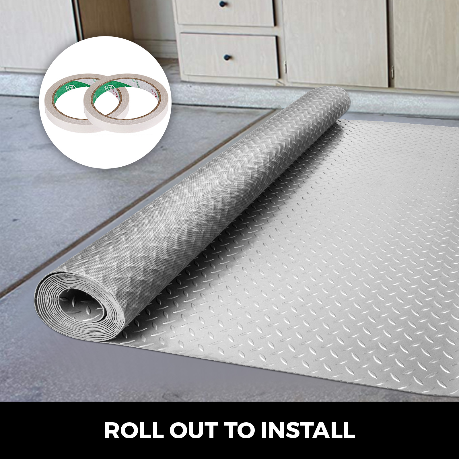 thumbnail 113 - Garage Flooring Mat Roll Car Trailer Floor Covering 1.1m Width Gym Floor Roll