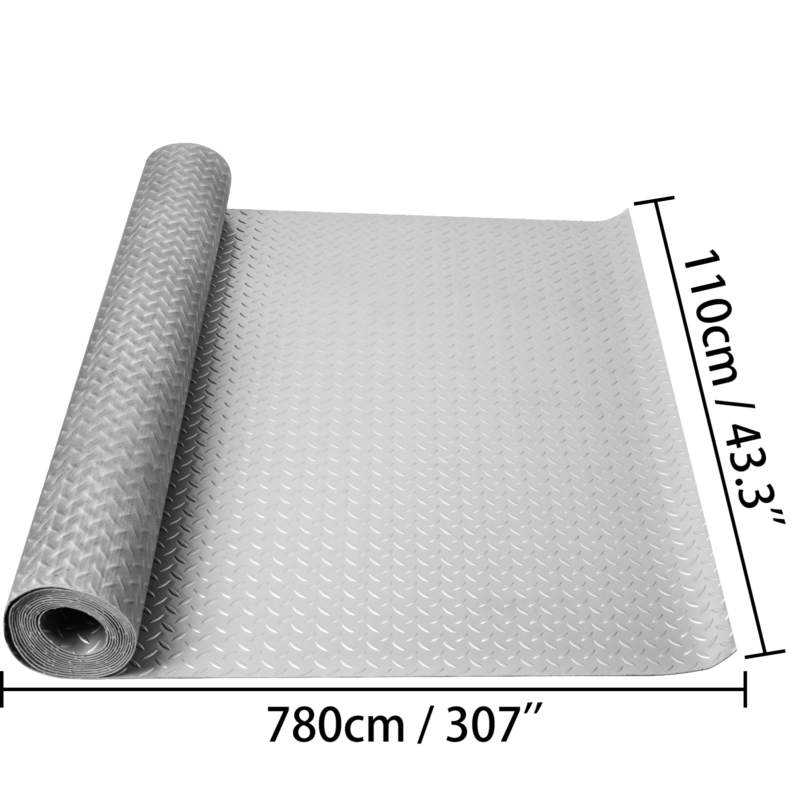 thumbnail 116 - Garage Flooring Mat Roll Car Trailer Floor Covering 1.1m Width Gym Floor Roll