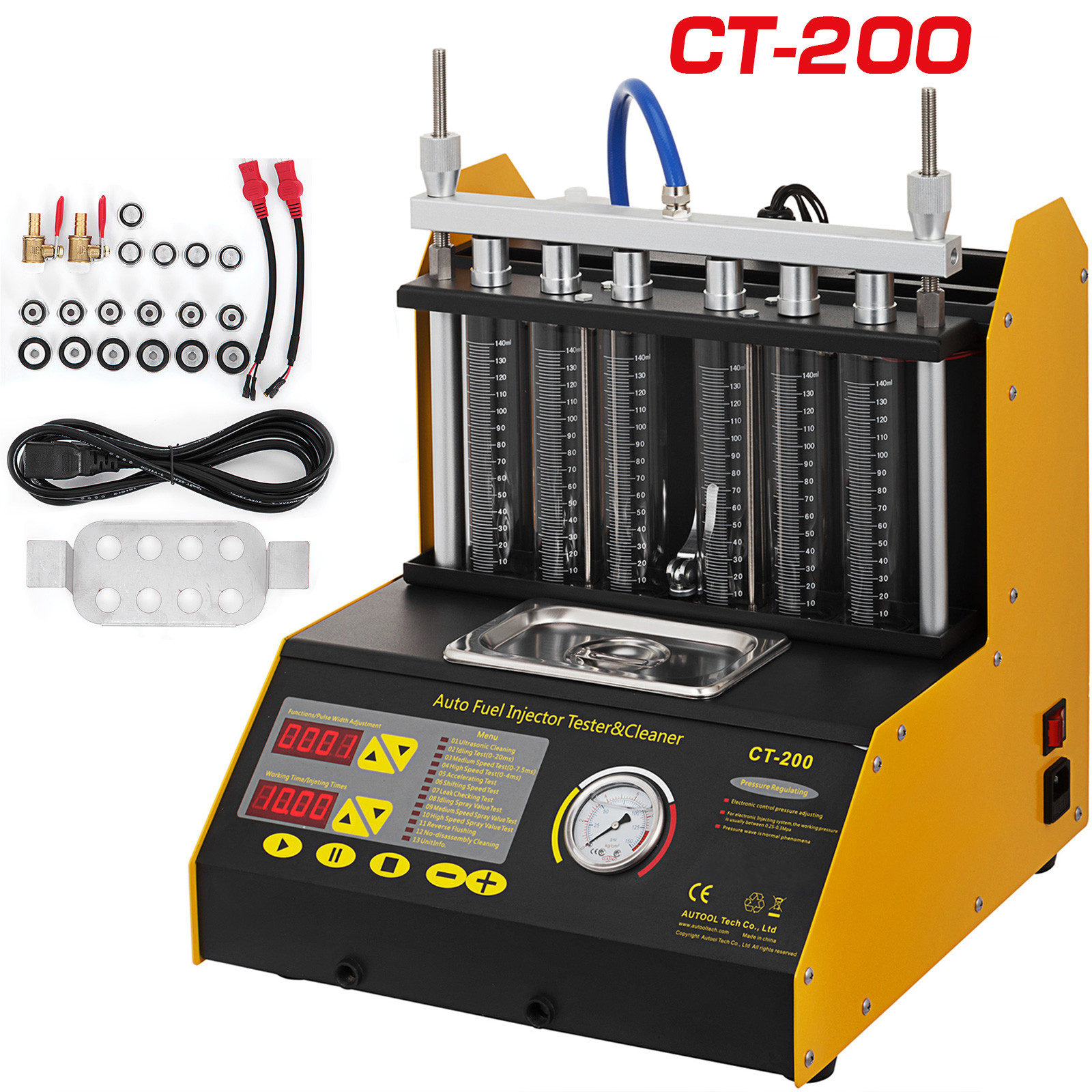 Details about Autool CT200 Ultrasonic Fuel Injector Cleaner Tester Machine  For Car motorcycle