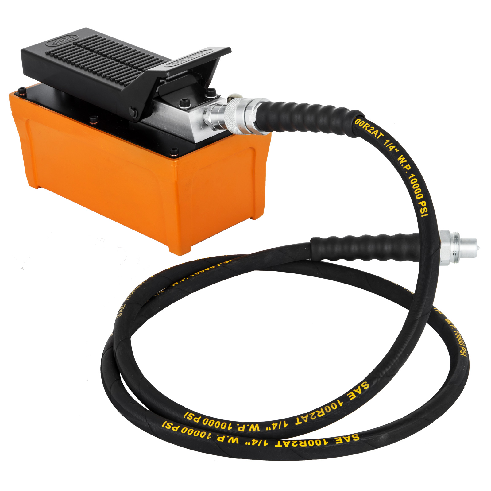 Power-Hydraulic-10000PSI-Air-Foot-Pump-10-Ton-Replacement-Pump-With-Hose miniature 35