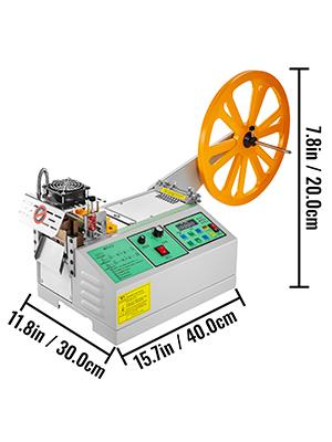 Automatic Textile Ribbon Cutter Cold 100mm Zipper Nylon Belt Cutting Machine