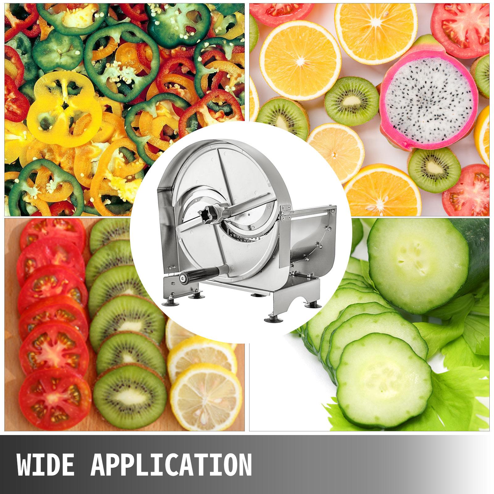 Gemüseschneider Gemüsehobel 0,2-10mm Wellenschneider Obstschneider Zwiebelhacker