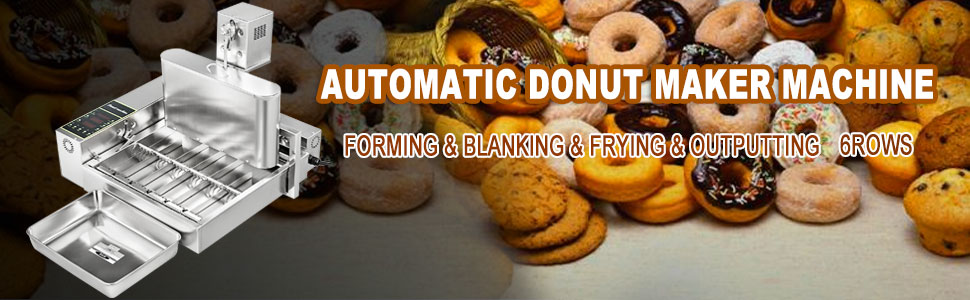 automatic donut maker, 304 stainless steel, 6 rows