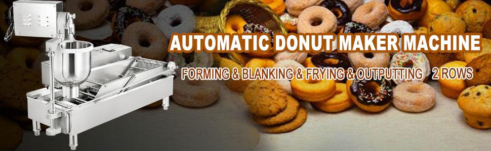 automatic donut maker machine, 7L, 2 rows