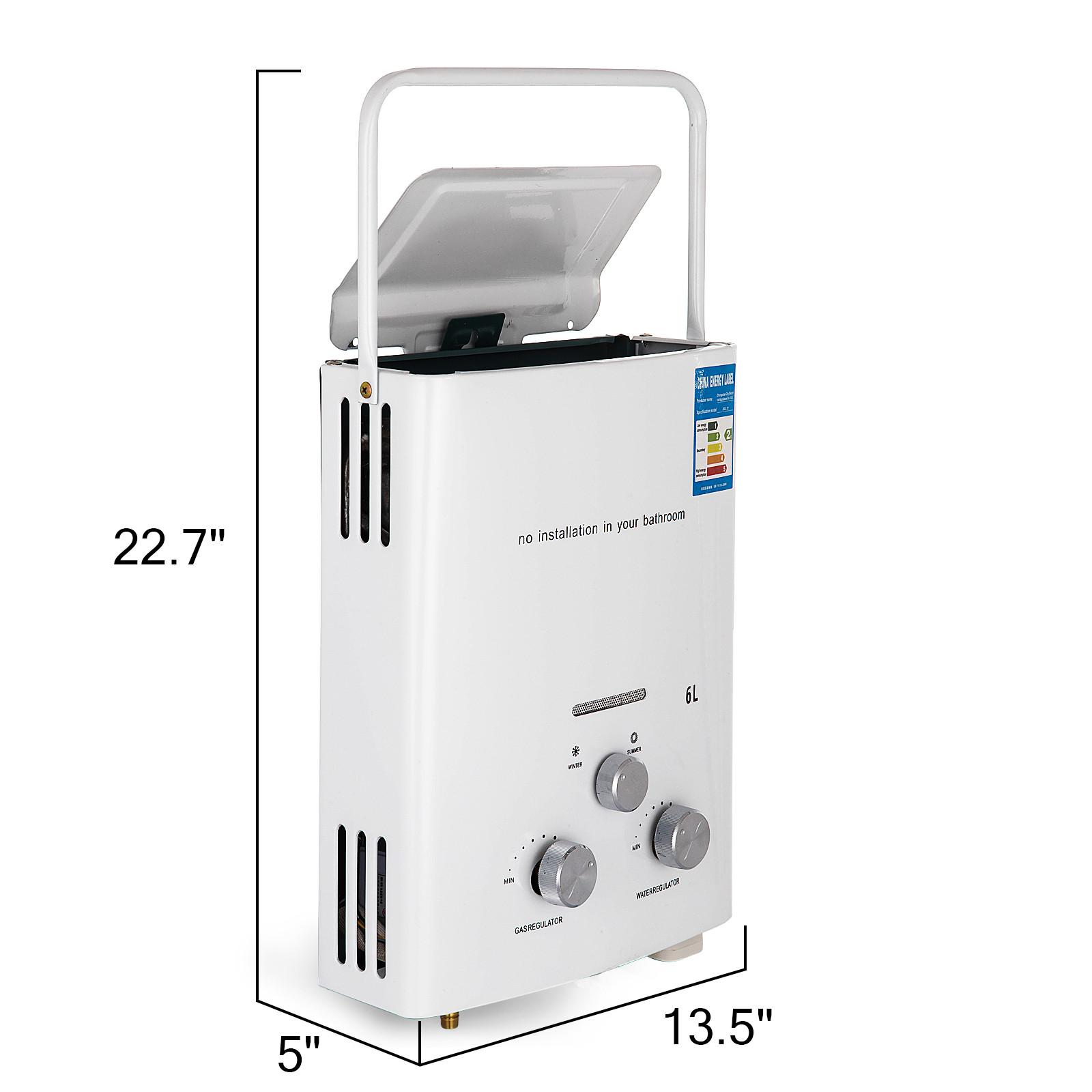 Propangas-Gas-Durchlauferhitzer-Warmwasserbereiter-Boiler-Warmwasserspeicher Indexbild 14