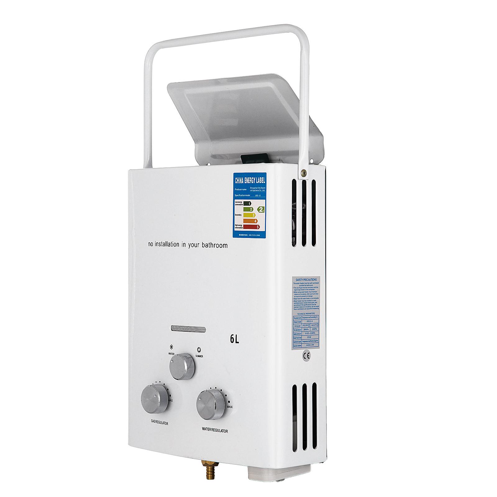 Propangas-Gas-Durchlauferhitzer-Warmwasserbereiter-Boiler-Warmwasserspeicher Indexbild 16