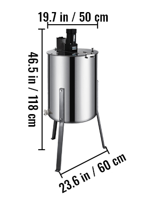 4 Frame, Stainless Steel, Electric Honey  Extractor