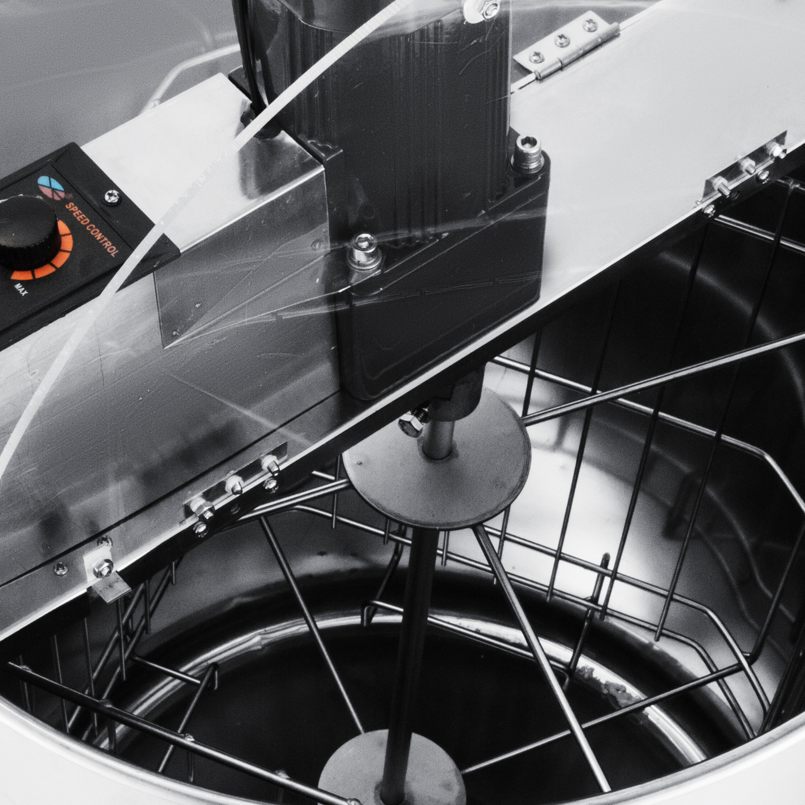 Extracteur-de-Miel-Electrique-manuelle-2-3-4-Cadres-En-Acier-Inox-Centrifugeuse miniature 67