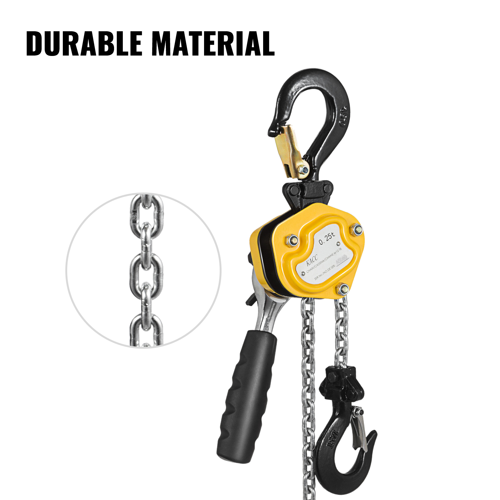 550lbs 5Ft Mini Lever Hoist Chain Block Heavy Duty 0.25T Transport FAST DELIVERY