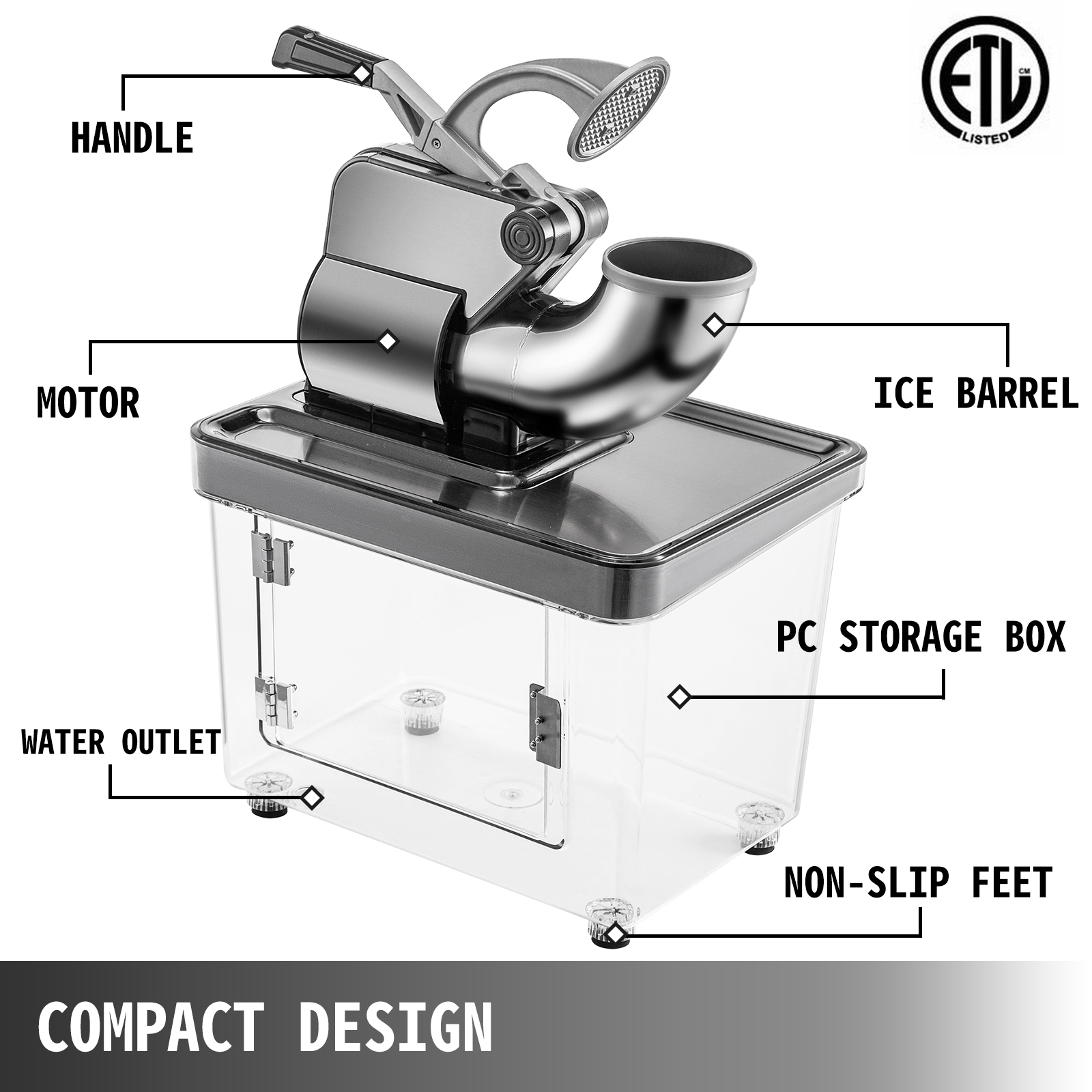 miniature 86 - Commercial Ice Shaver Electric Snow Cone Machine Commercial Blender Ice Crushers