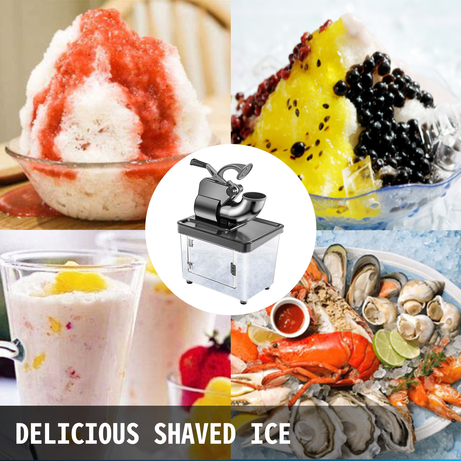 miniature 91 - Commercial Ice Shaver Electric Snow Cone Machine Commercial Blender Ice Crushers