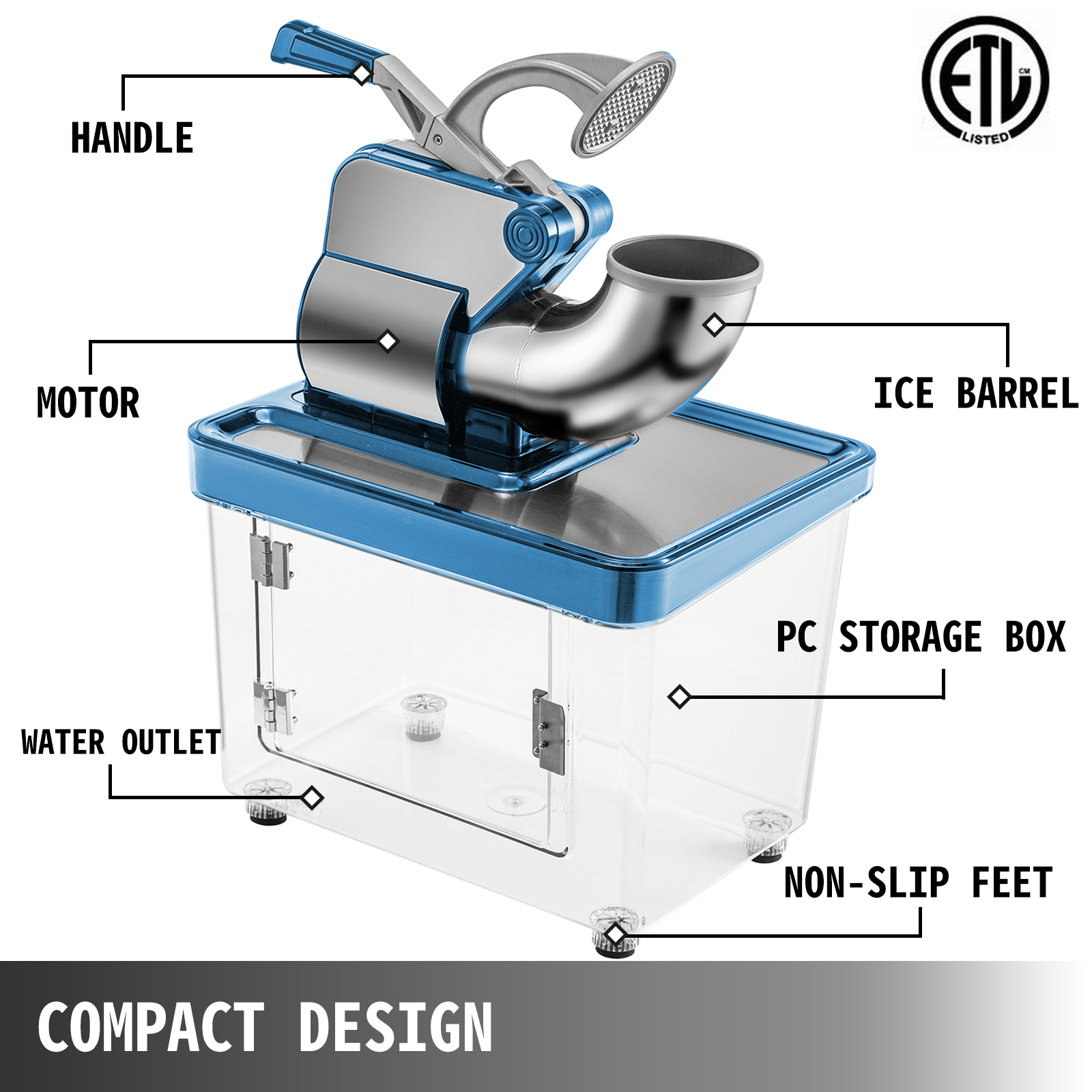 miniature 50 - Commercial Ice Shaver Electric Snow Cone Machine Commercial Blender Ice Crushers