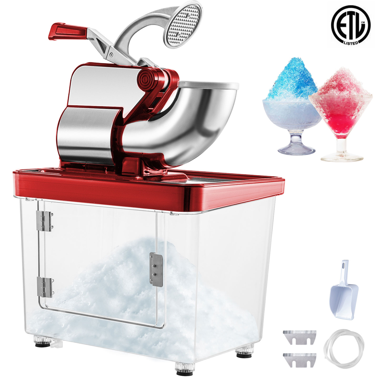miniature 37 - Commercial Ice Shaver Electric Snow Cone Machine Commercial Blender Ice Crushers