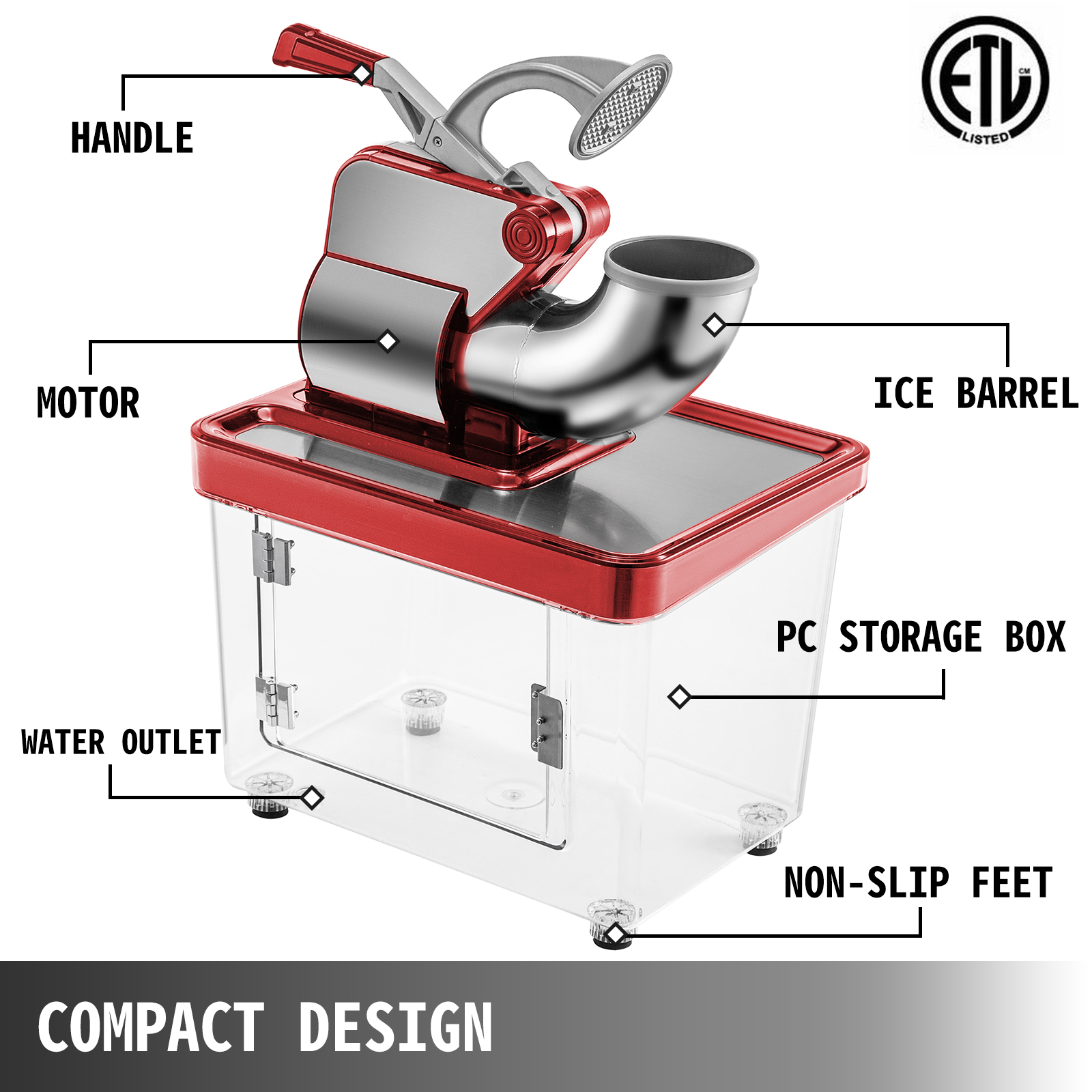 miniature 38 - Commercial Ice Shaver Electric Snow Cone Machine Commercial Blender Ice Crushers
