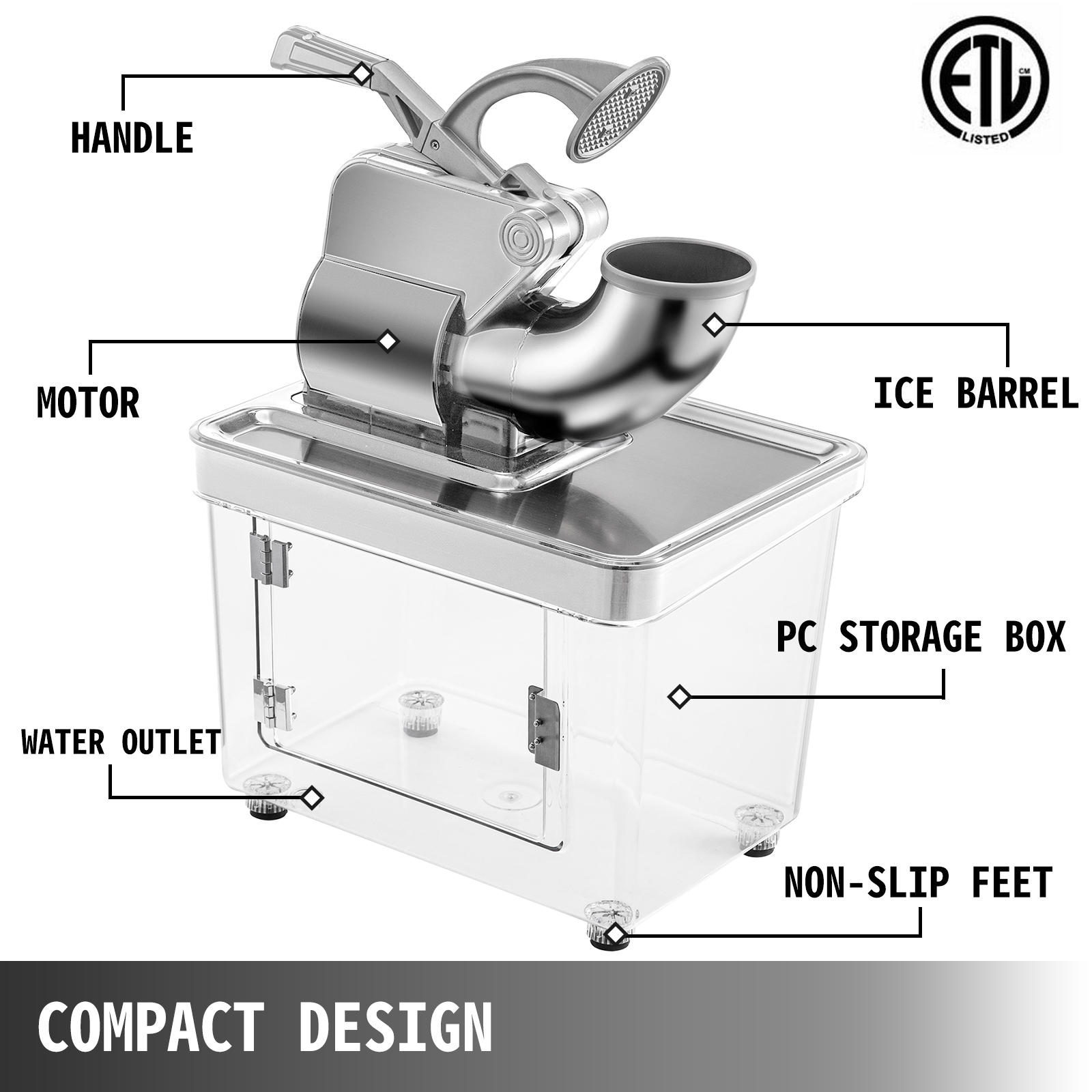 miniature 74 - Commercial Ice Shaver Electric Snow Cone Machine Commercial Blender Ice Crushers