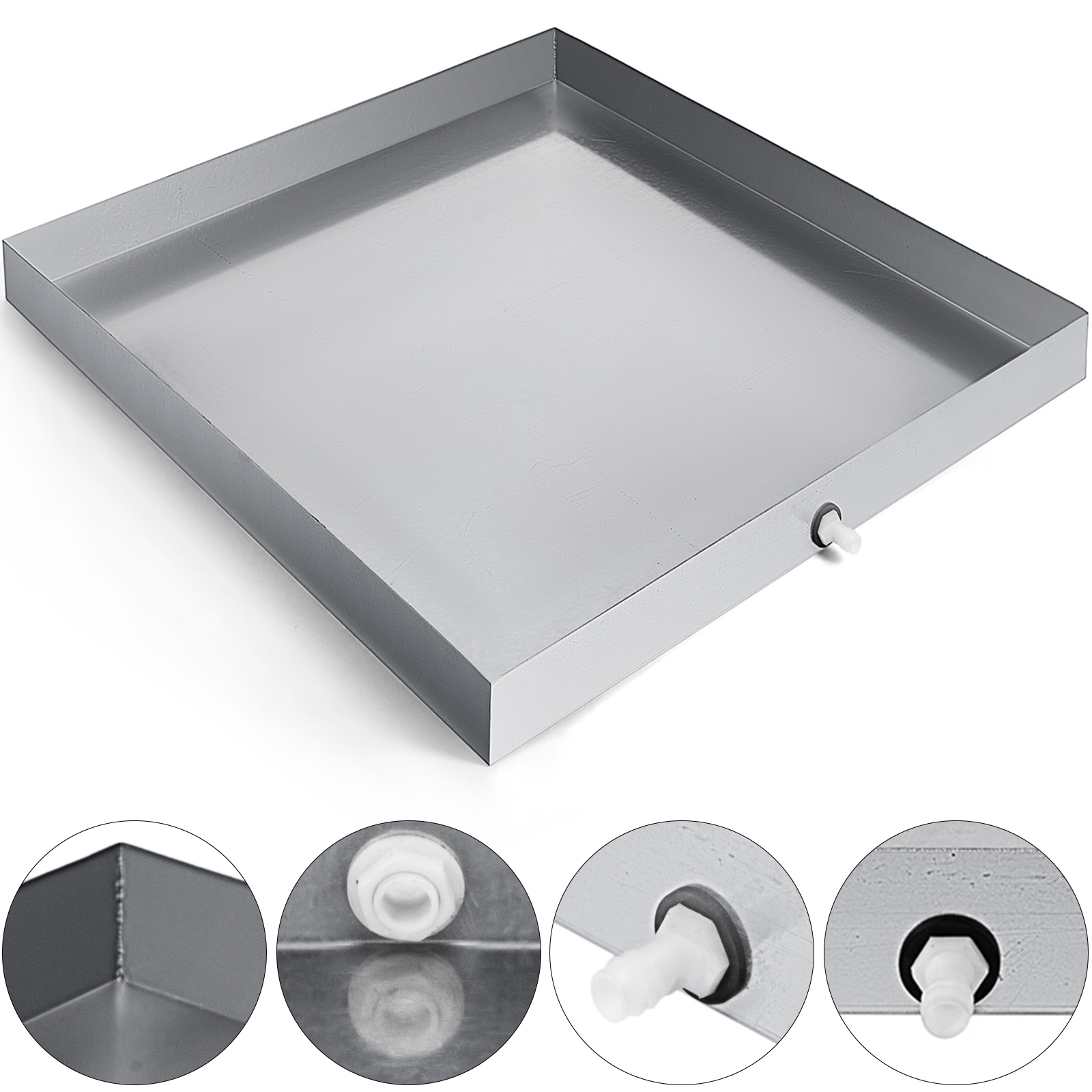 46x43x9cm Moving The Tool Base Color : A NingNing Washing Machine Stainless Steel Heightening Drainage Tray for Furniture Refrigerator Washing Machine Heavier Items