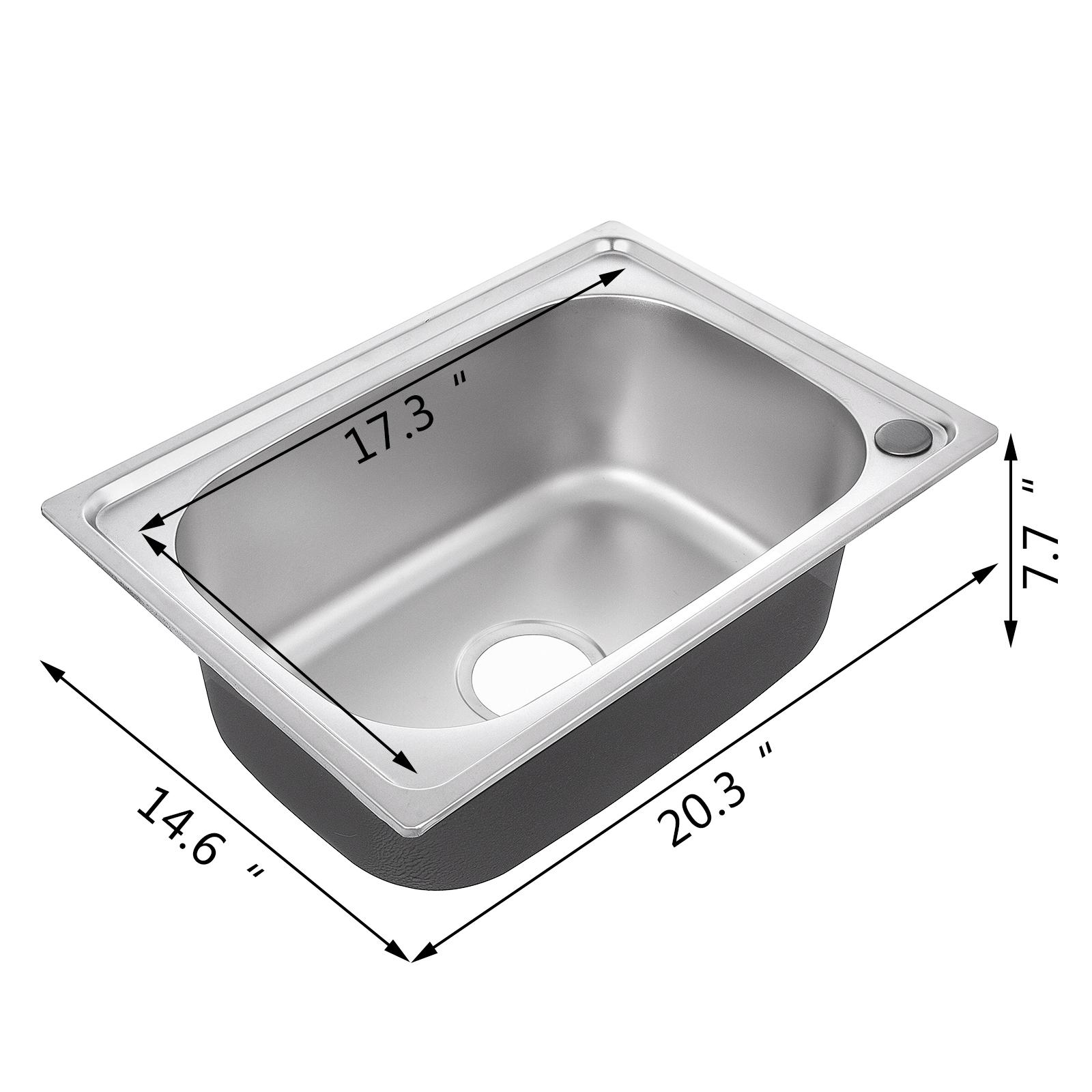 46x32cm Lavello Cucina Acciaio Inox Una Vasca Saldato Da Incasso 1 ...