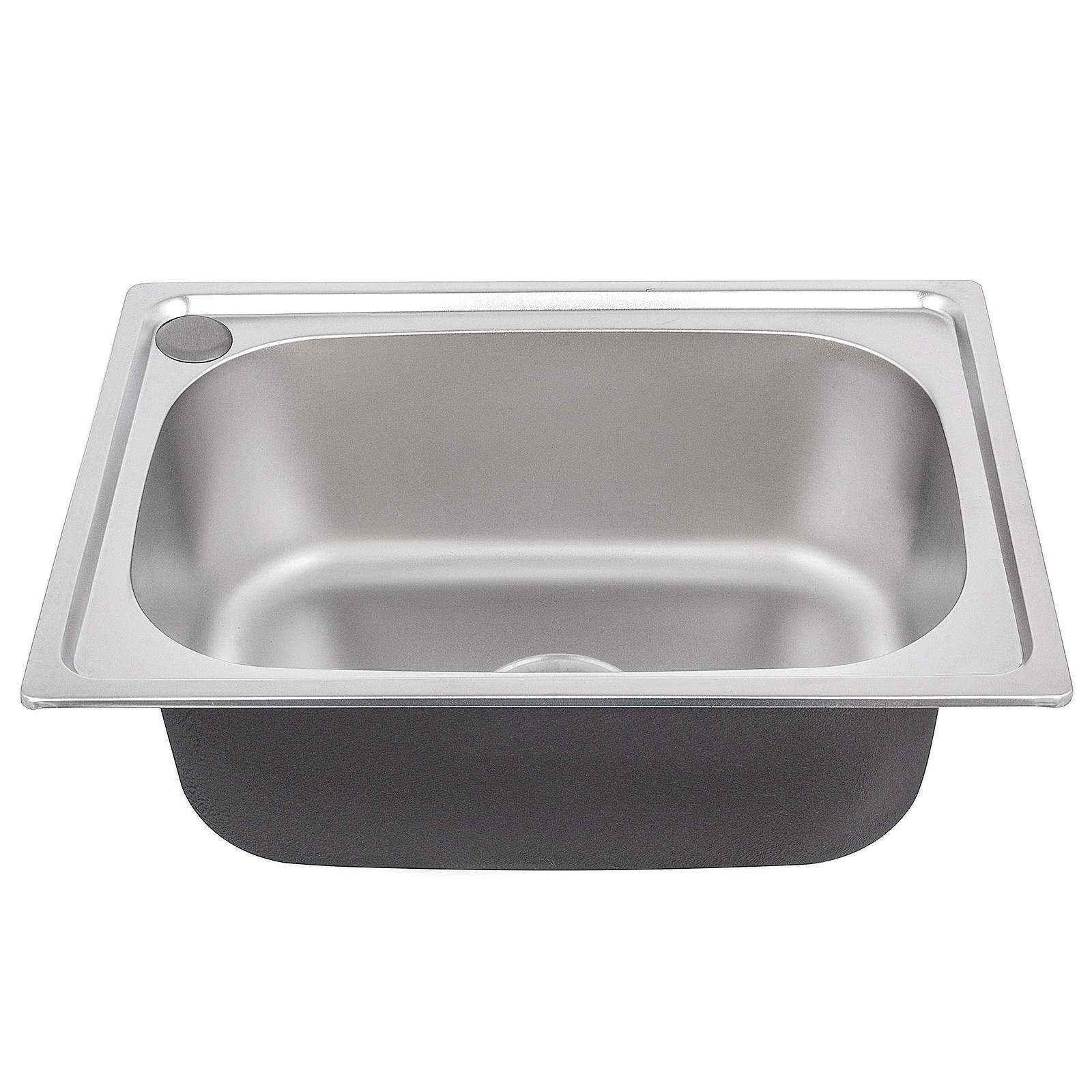 Lavello acciaio da cucina una vasca in acciaio Lavello inox da ...