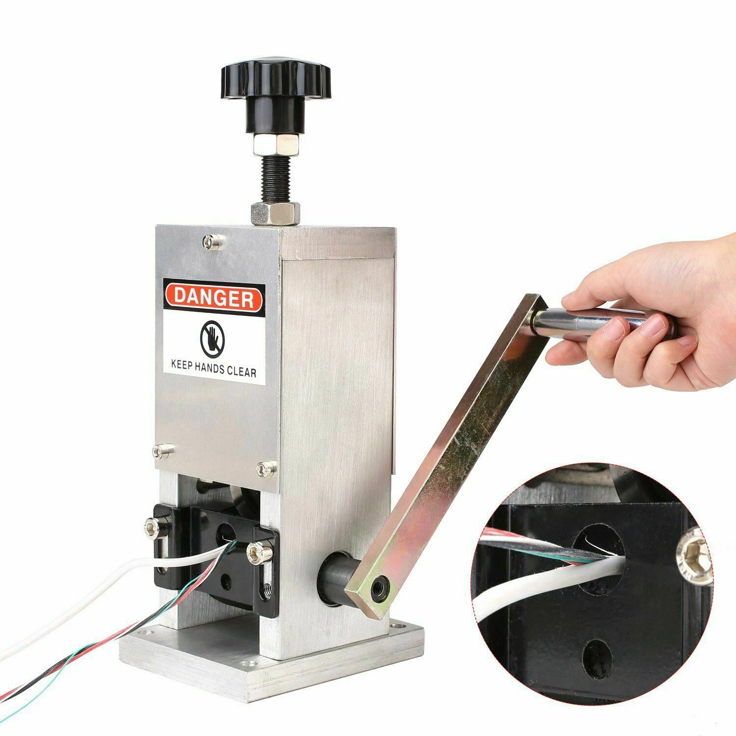 2Pgft details about durable copper wire stripping machine hand crank drill  operated cable stripper