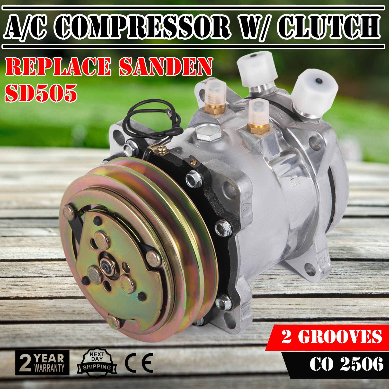 OEM Sanden AC Compressor fit 5073 24 volt SD5H09 SD505 5071 1149328 Stock