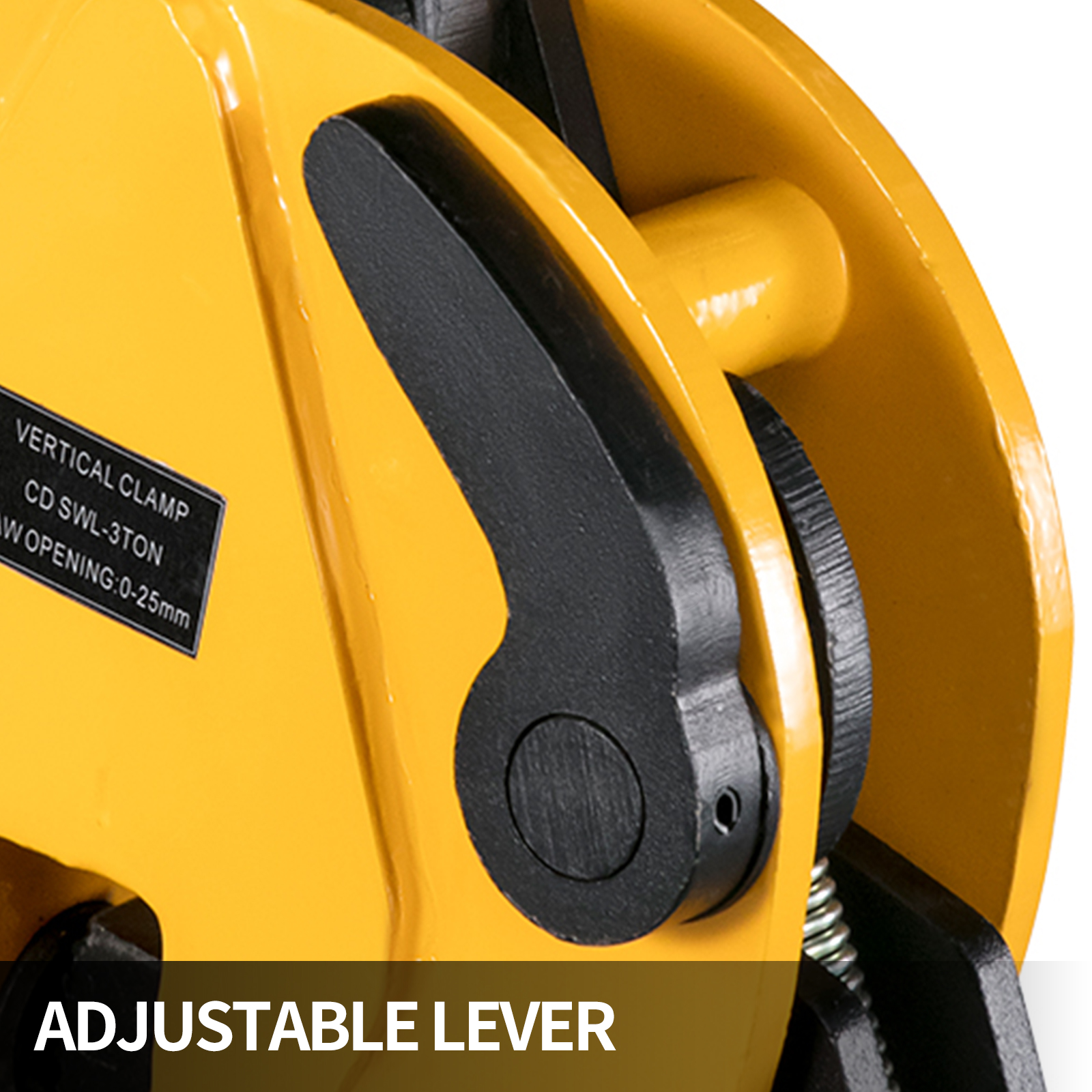 VEVOR 1T//1000KG Vertical Lifting Plate Clamp Snatch Block 0-15mm 2200Lbs Industrial Vertical Plate Lifting Clamp Stable 180℃ Rotation for Synthetic Rope or Steel Cable