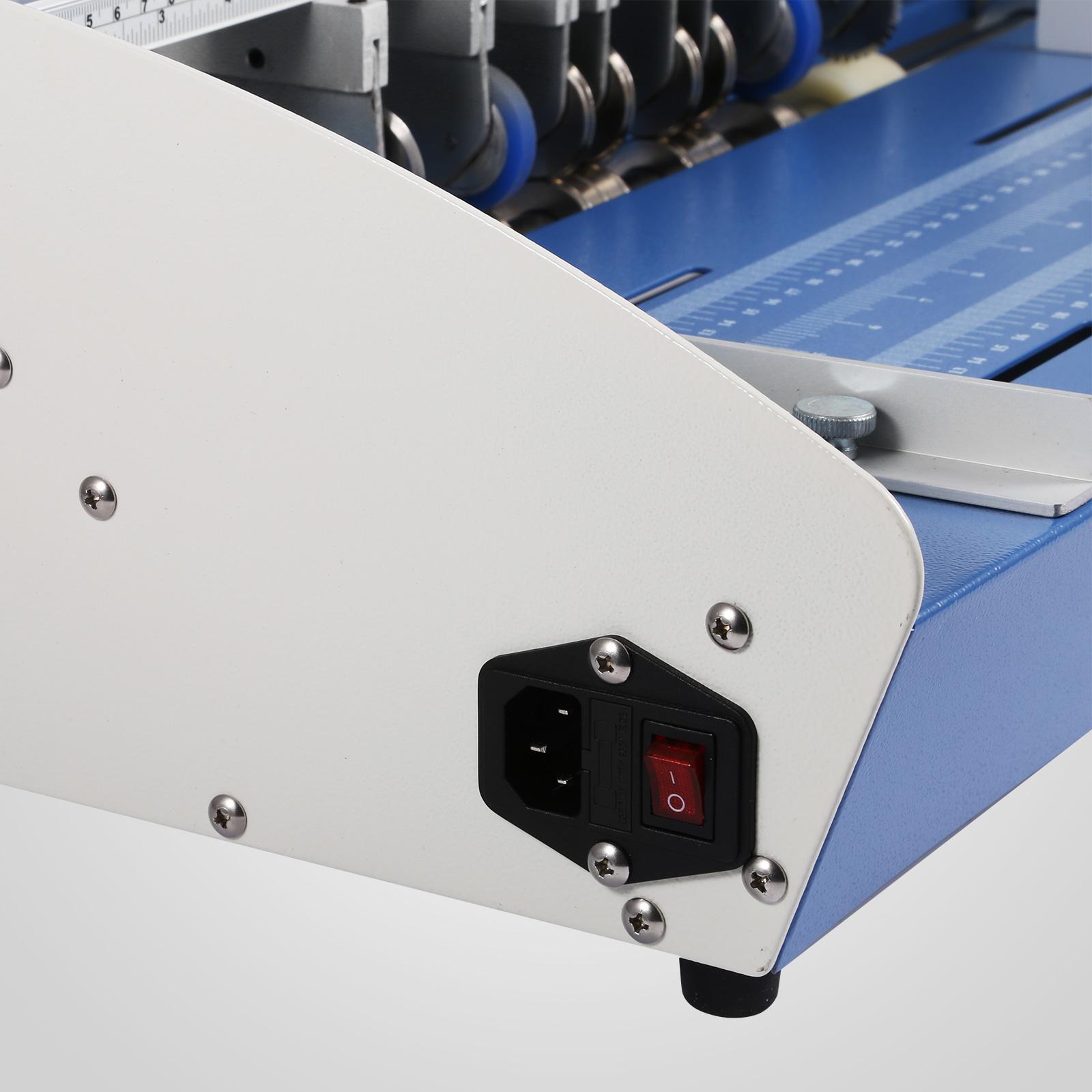 Cordonatrice-Perforatrice-Max-350-520mm-Profondita-Regolabile-Elettrica-Manuale miniatura 23