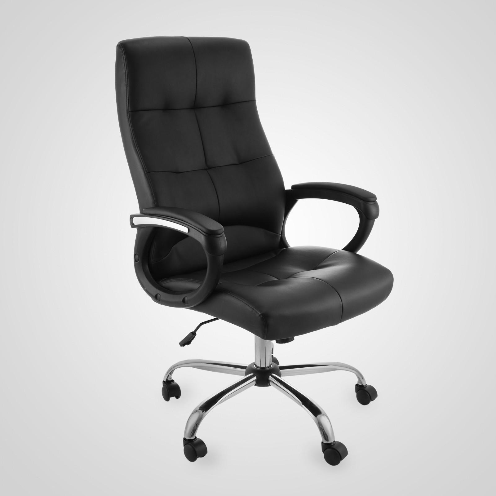 Xxl 160kg ecopelle poltrona ufficio sedia per studio for Sedia ufficio xxl