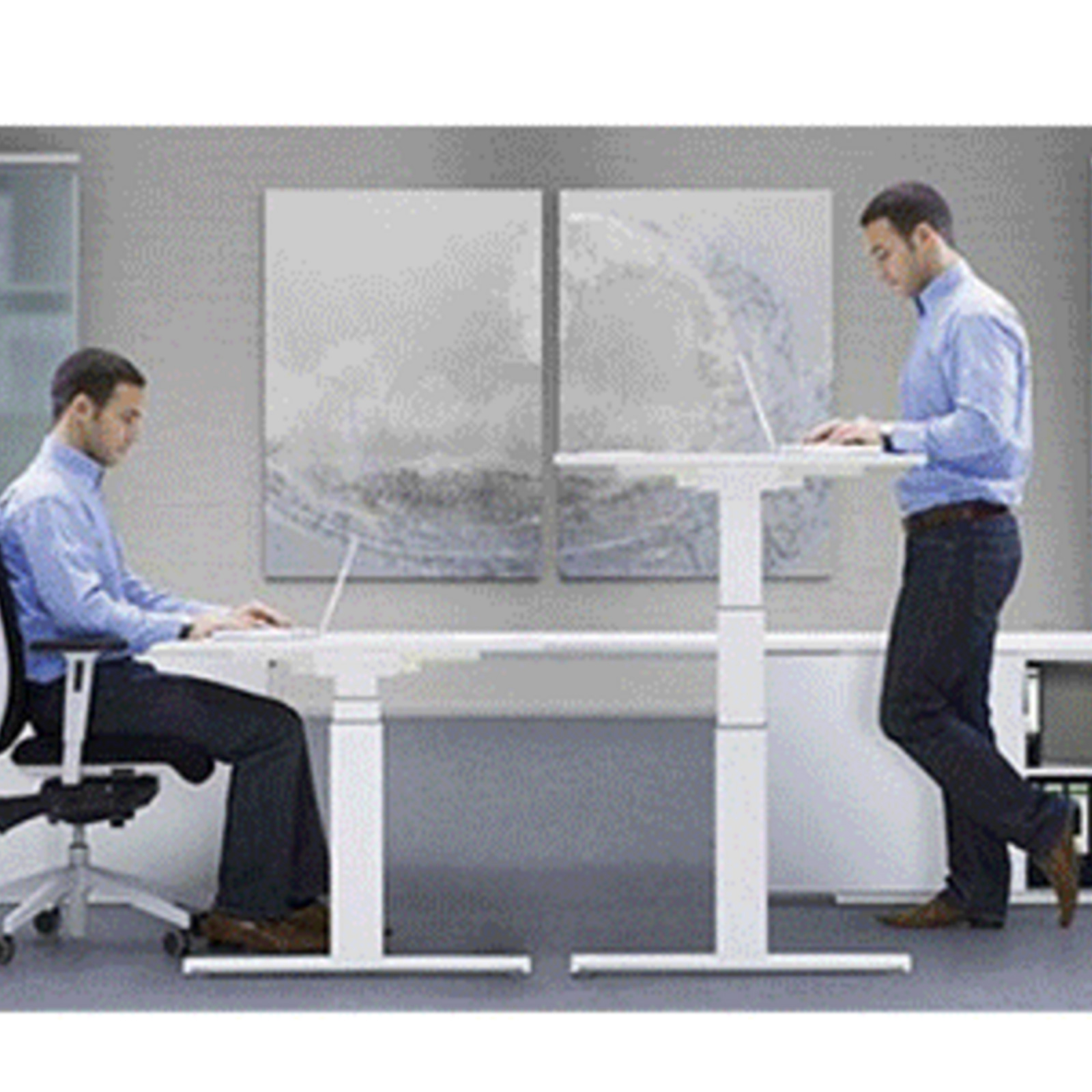 Electric-Sit-Stand-Standing-Desk-Frame-Dual-Motor-Stable-Heavy-Duty-Premium thumbnail 48