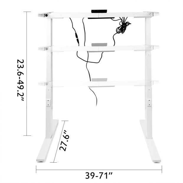 Electric-Sit-Stand-Standing-Desk-Frame-Dual-Motor-Stable-Heavy-Duty-Premium thumbnail 38